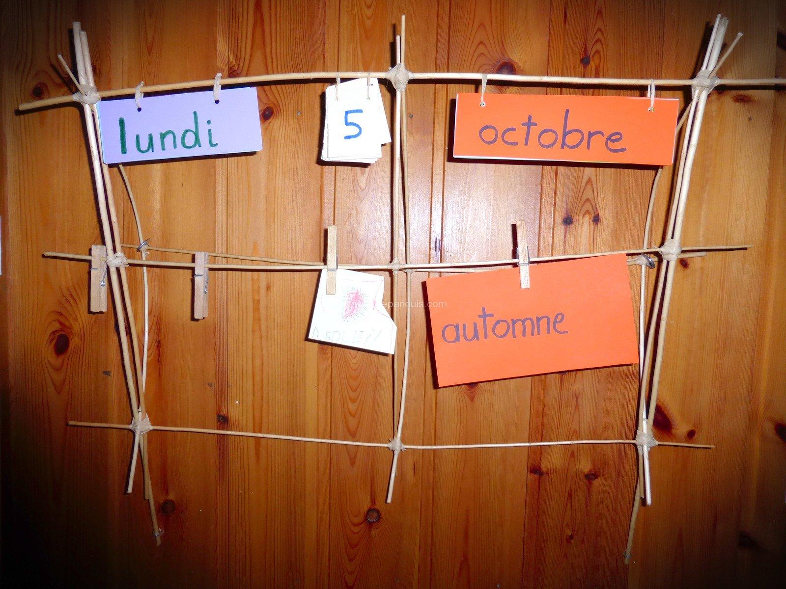 activités manuelles enfants DIY- fabriquer un calendrier pédagogique - parents-epanouis.com, de l'éveil aux outils