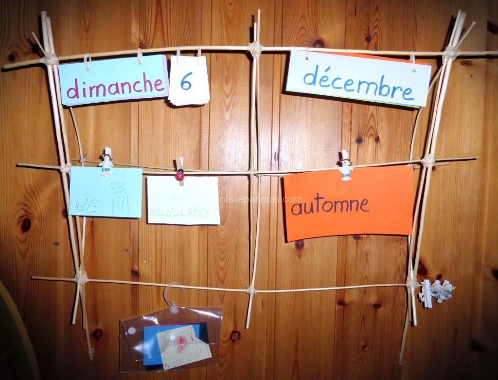 activités enfants - calendrier - parents-epanouis.com