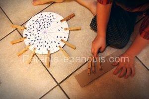 roue des chiffres, DIY jeu pour apprendre à compter, parents-epanouis.com